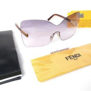 Fendi Oversized Rimless Sunglasses